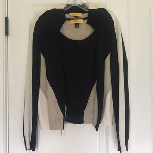 St John bomber style zip sweater set
